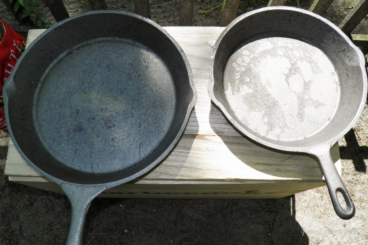 Zwei neue Gusseisenpfannen