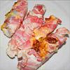 Überbackene Hähnchenbrust im Baconmantel