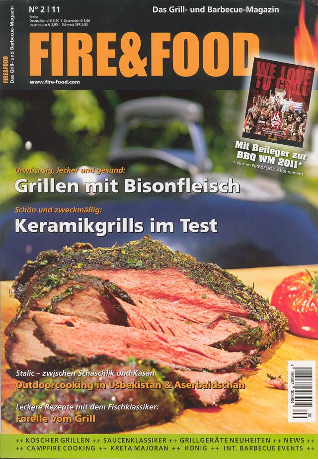 Bild - Cover der aktuellen Fire&Food Ausgabe 2/2011