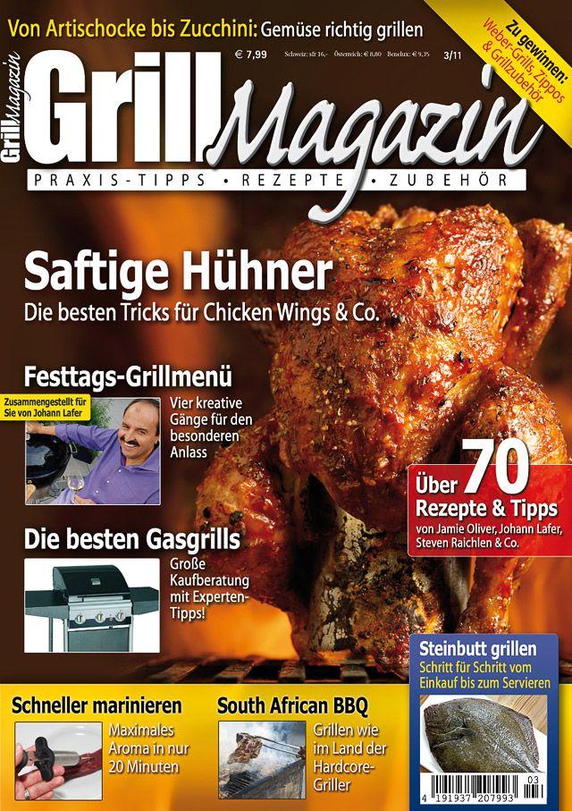 Bild - Cover des Grill-Magazins Ausgabe 3/2011 aus dem Data Becker Verlag