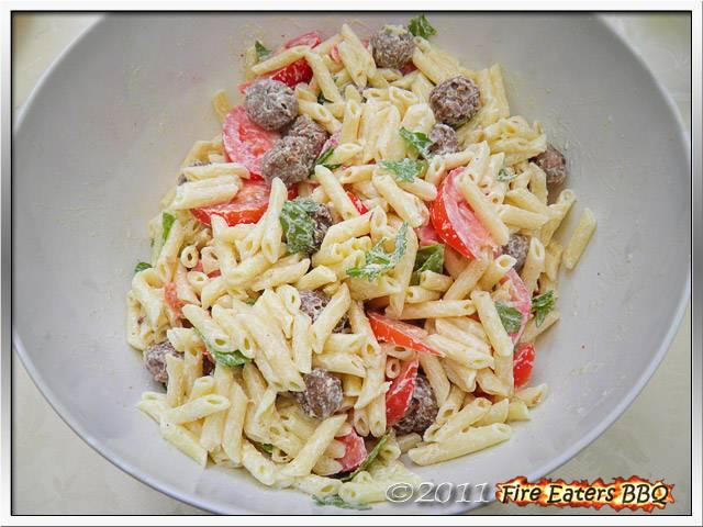 Bild - Makkaroni-Salat mit Ricotta-Sauce