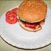 Ein Bacon Onion Burger – der BOB