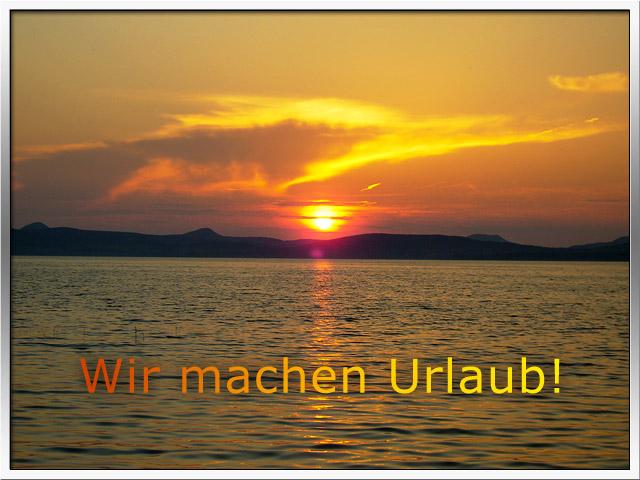 Bild von einem Sonnenuntergang am Balaton