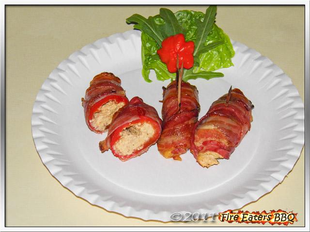 Atomic Buffalo Turds (ABT's) - gefüllte Jalapeños mit Frischkäse und Bacon