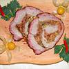 Rollbraten mit Honig-Mandelkruste