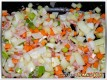 Speck und Gemüse anbraten