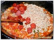 Bohnen und Chorizo dazu
