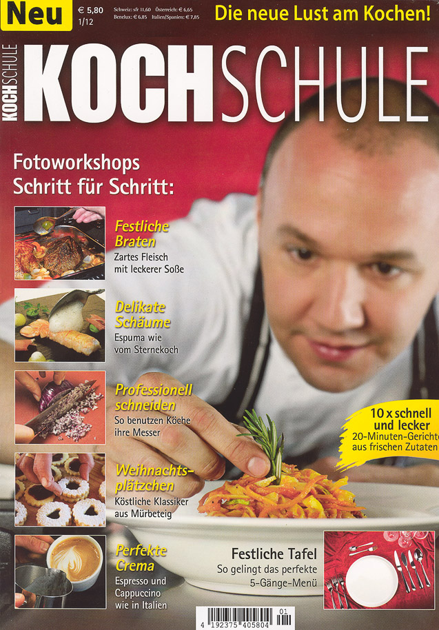 Cover der Kochschule 1/2012 von Data Becker