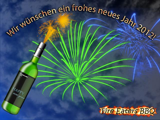 Bild - Fire Eaters BBQ wünscht ein frohes Jahr 2012