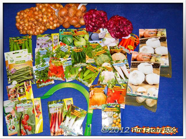 Eine Saatgutlieferung für den Gemüsegarten