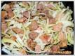 Gulasch anbraten und Zwiebeln mitdünsten