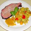 Rezeptbild - Karibischer Schweinenacken mit Mango-Sauce