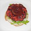 Chorizo-Burger mit Rotweinsauce