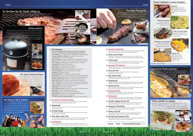 Inhaltsverzeichnis Grill-Magazin 2/2012