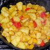 Kartoffelsalat vom Grill mit Pistazienpesto