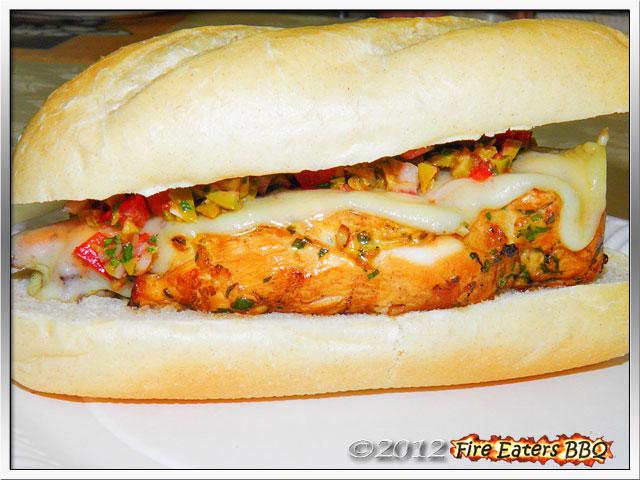 Foto - Chicken Sandwich mit Salat-Topping