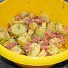 Warmer Kartoffel-Bacon-Salat mit Senfsauce