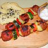 Gemüse-Hackfleisch-Spieße vom Grill