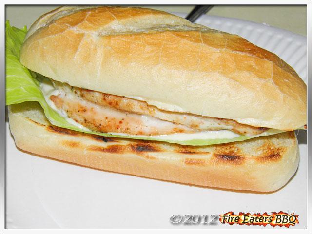 Foto - selbstgemachtes Chicken-Sandwich vom Grill