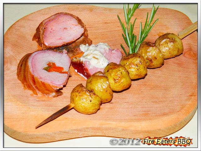 Foto - Tellerbild von Schweinefilet aus dem Barbecue-Smoker