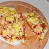 Asiatische Hähnchen-Pizza vom Grill