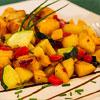 Kartoffelpfanne mit Zucchini und Paprika