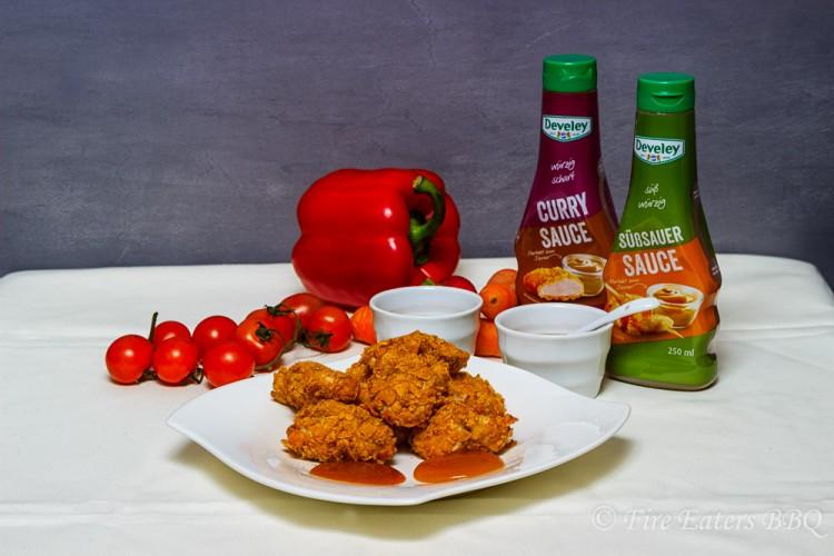 Curry- und Süßsaure Sauce von Develey