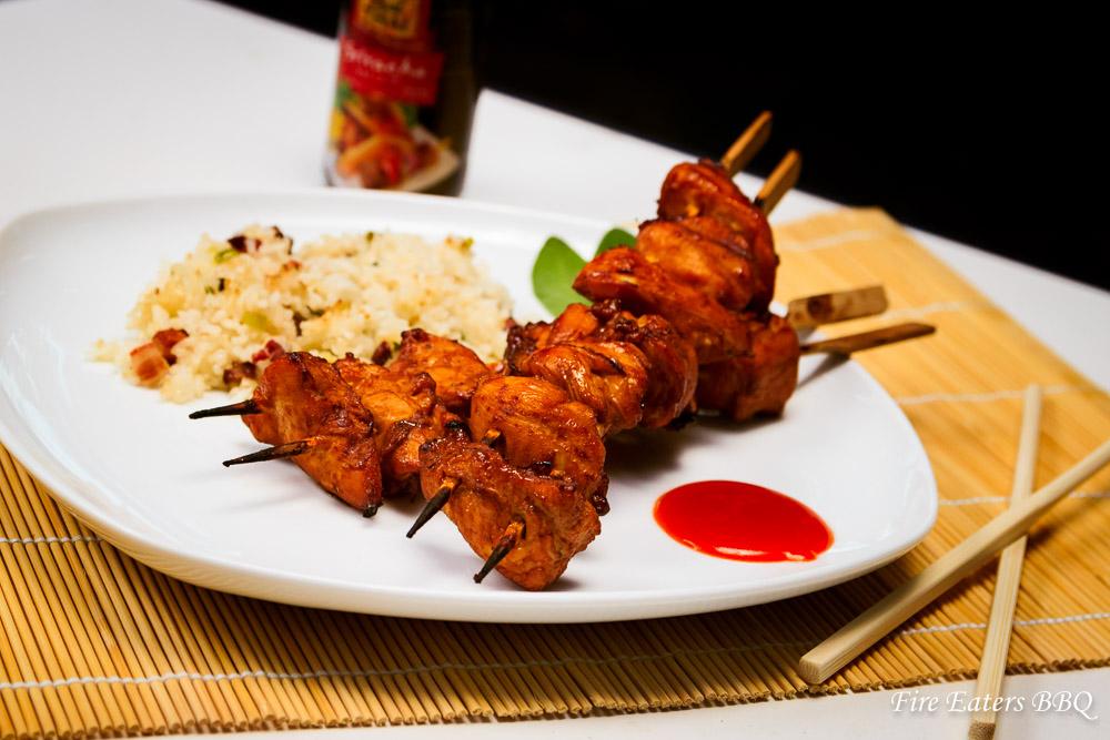 Asiatische Curryhuhn-Grillspieße