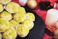 Buttergebäck mit Pistazien