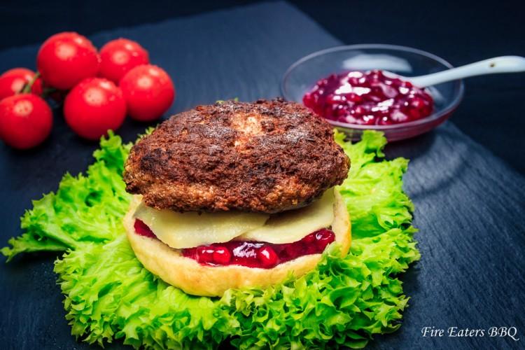 Reh-Burger im Zusammenbau