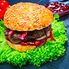 Wild-Burger mit Reh Rezeptfoto