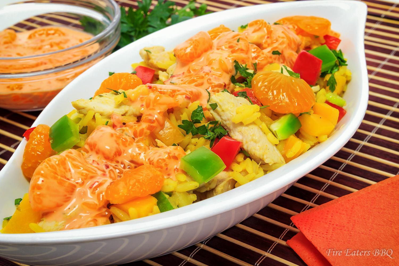 Bild - Curry-Reissalat mit Hähnchen