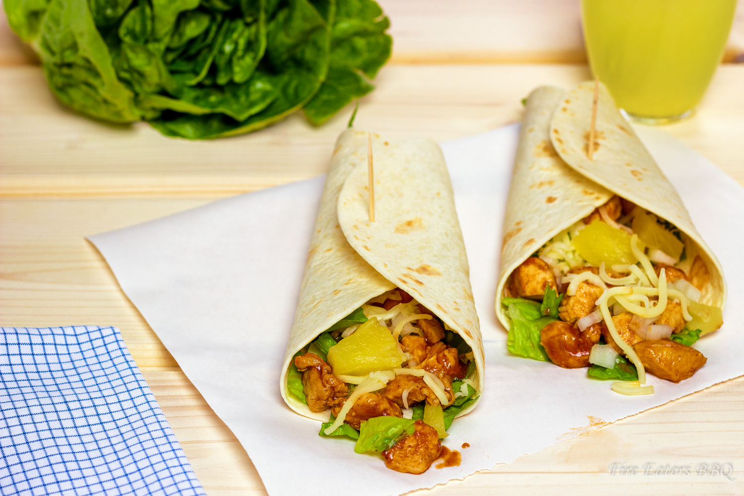 "Foto - BBQ-Chicken Wraps ""Hawaii"""