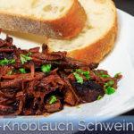 Honig-Knoblauch Schweinenacken aus dem Slow Cooker