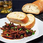 Rezeptfoto - Honig-Knoblauch Schweinenacken aus dem Slow Cooker