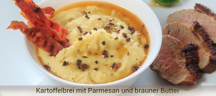 Artikelbild - Kartoffelbrei mit Knoblauch, Parmesan und brauner Butter