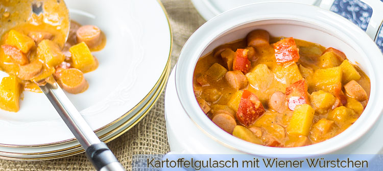 Artikelbild - Kartoffelgulasch mit Wiener Würstchen