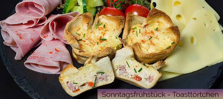 Artikelbild - Sonntagsfrühstück mit Toast-Törtchen