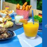 Beitragsbild - verschiedene Gerichte für die WM-Party