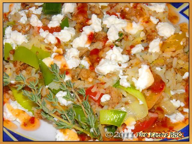 Griechische Reispfanne mit Hackfleisch