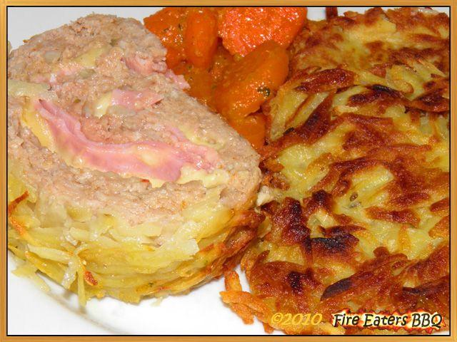 "Hackrollbraten ""Cordon bleu"" mit Kartoffelkruste"