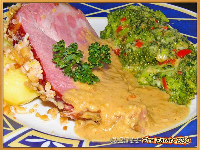Kasselerbraten mit Salzkartoffeln und Chili-Brokkoli