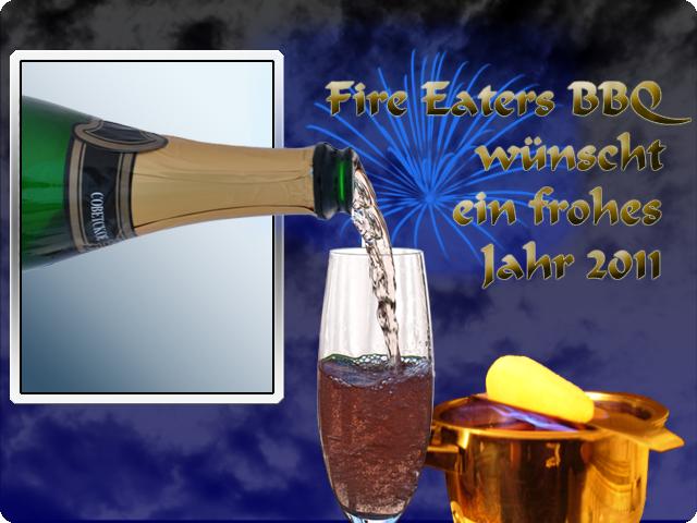 Fire Eaters BBQ wünscht allen Freunden und Lesern ein frohes neues Jahr!