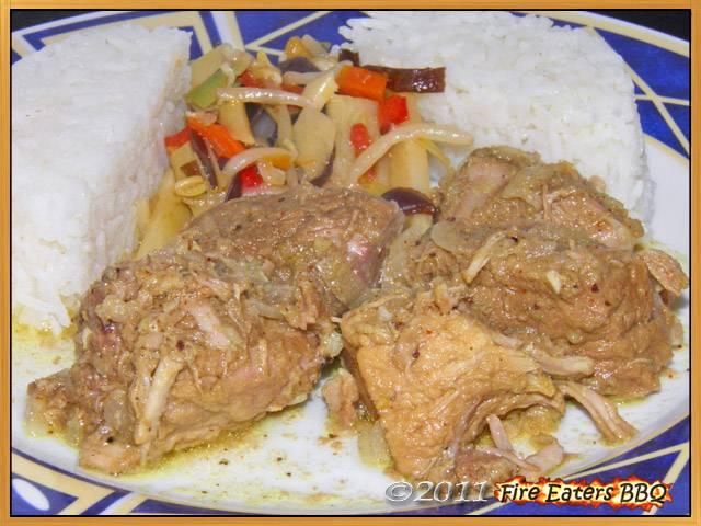 Schweinefleisch-Vindaloo