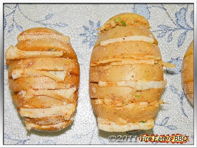 Bild - Vorbereitete Fächerkartoffel